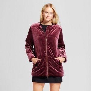 Who What Wear velvet coat